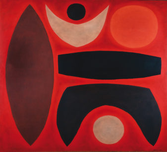 John Coburn, Legend IV, 1965, Oil on canvas, 151 x 168cm
