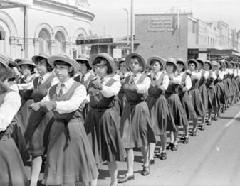 MARCHING: St Joseph's Lochinvar in St Patricks Day parade.