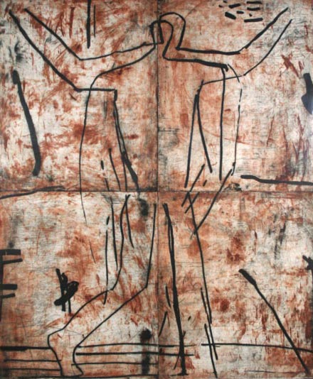 Graham Fransella, Walking Figure, 1990, etching on paper, 194.5 x 161 cm (paper size), Donated through the Australian Government's Cultural Gifts Program in memory of Andrew Joseph, 2010