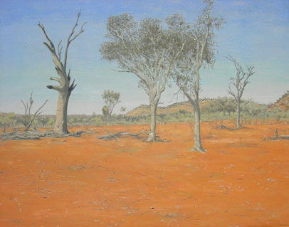 Max Miller, Muttawingee Sacred Area, 2004, oil on linen, 51 x 66cm.