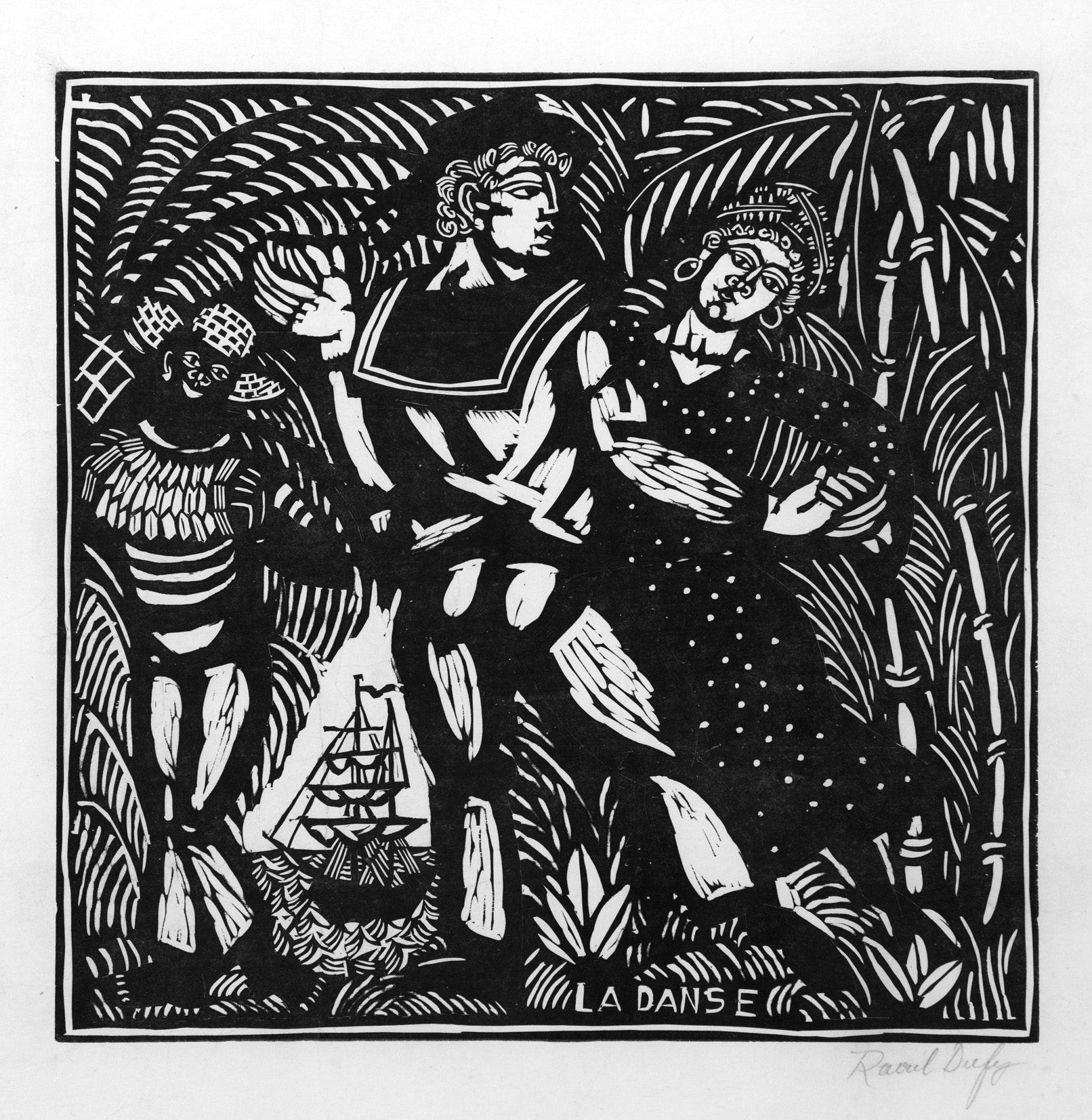 Raoul Dufy (1877–1953), La Danse, c. 1910. Woodcut in black ink, 46 x 58 cm