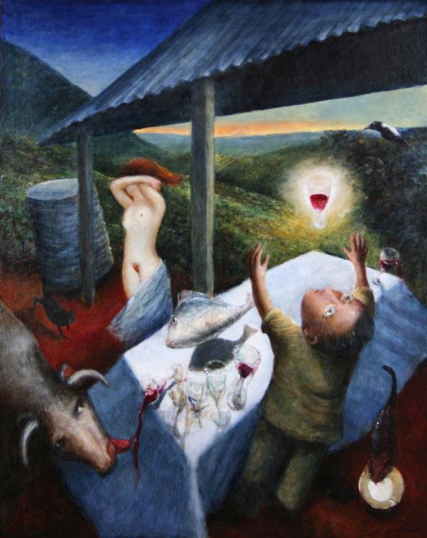 Garry Shead, Mountain 'A', 1937, 2009, Oil on linen, 153 x 122cm