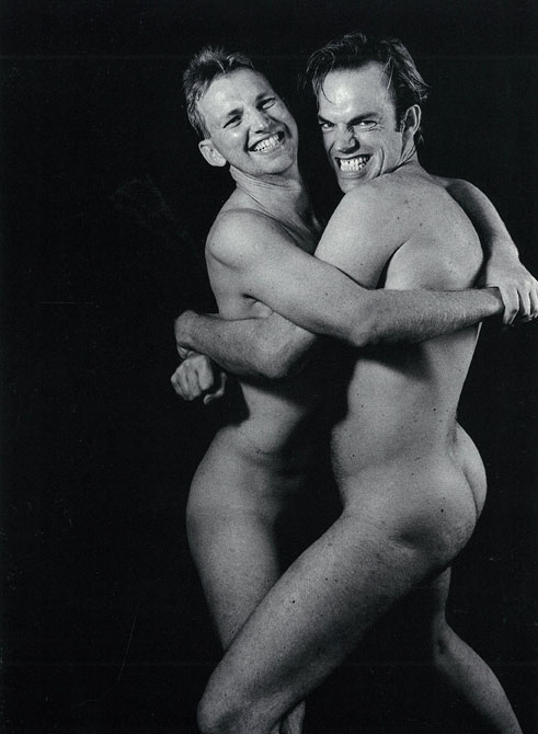 Rober Rosen, Simon and Hugo Weaving, 1992, Gelatin silver photograph