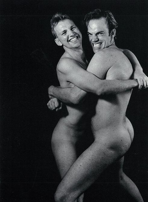 Rober Rosen, Simon and Hugo Weaving, 1992, Gelatin silver photograph