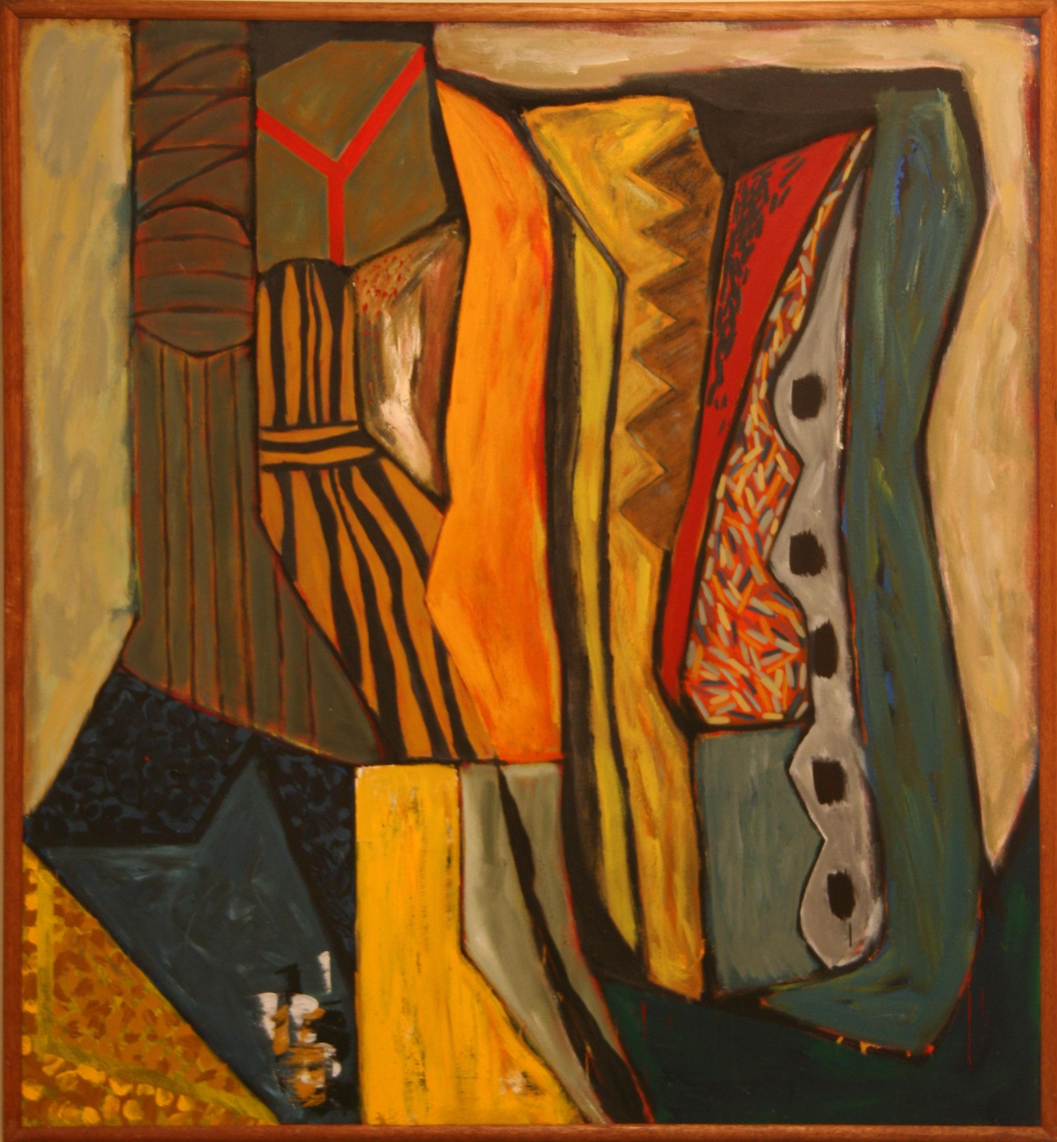 John Martin, Immigrant's Lament – the Hollow Man 1988, acrylic on canvas,185 x 170 cm