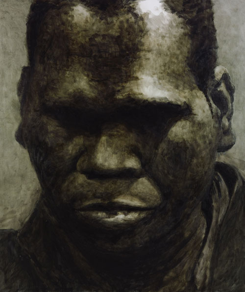 Guy Maestri, Geoffrey Gurrumul Yunupingu, oil on linen
