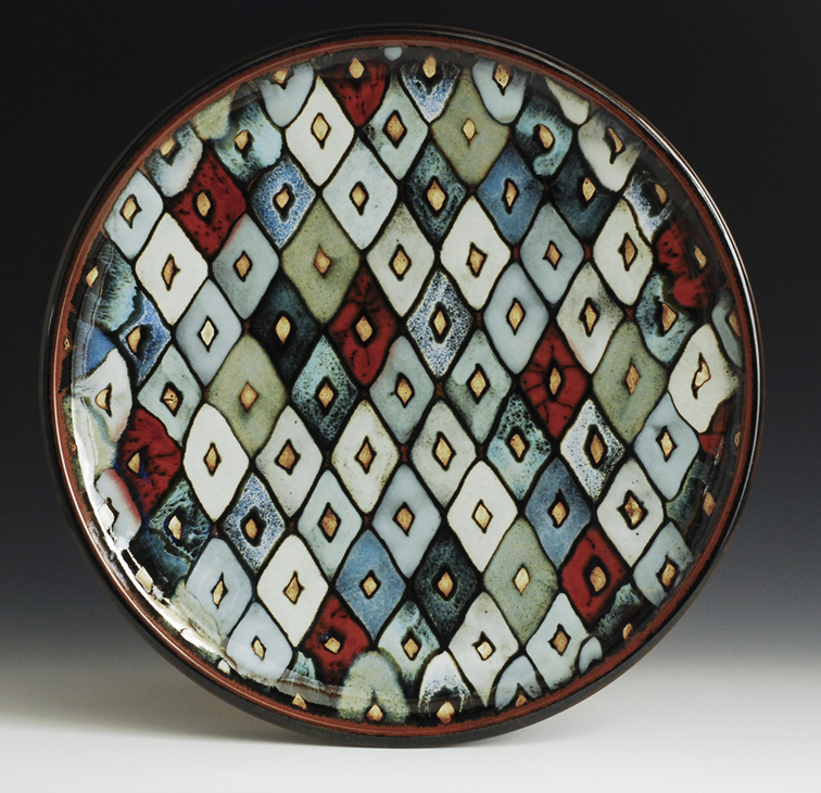 Christine Ball, Platter, Stoneware multiple glazes