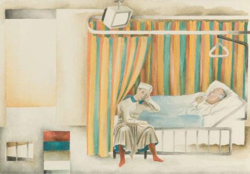 Ruth Waller Dream of Constantine I 1994 gouache on paper 18.6 x 27 cm