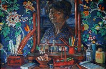 Margaret Olley, Bedroom Still Life, 1997, Oil on board, 61 x 91cm