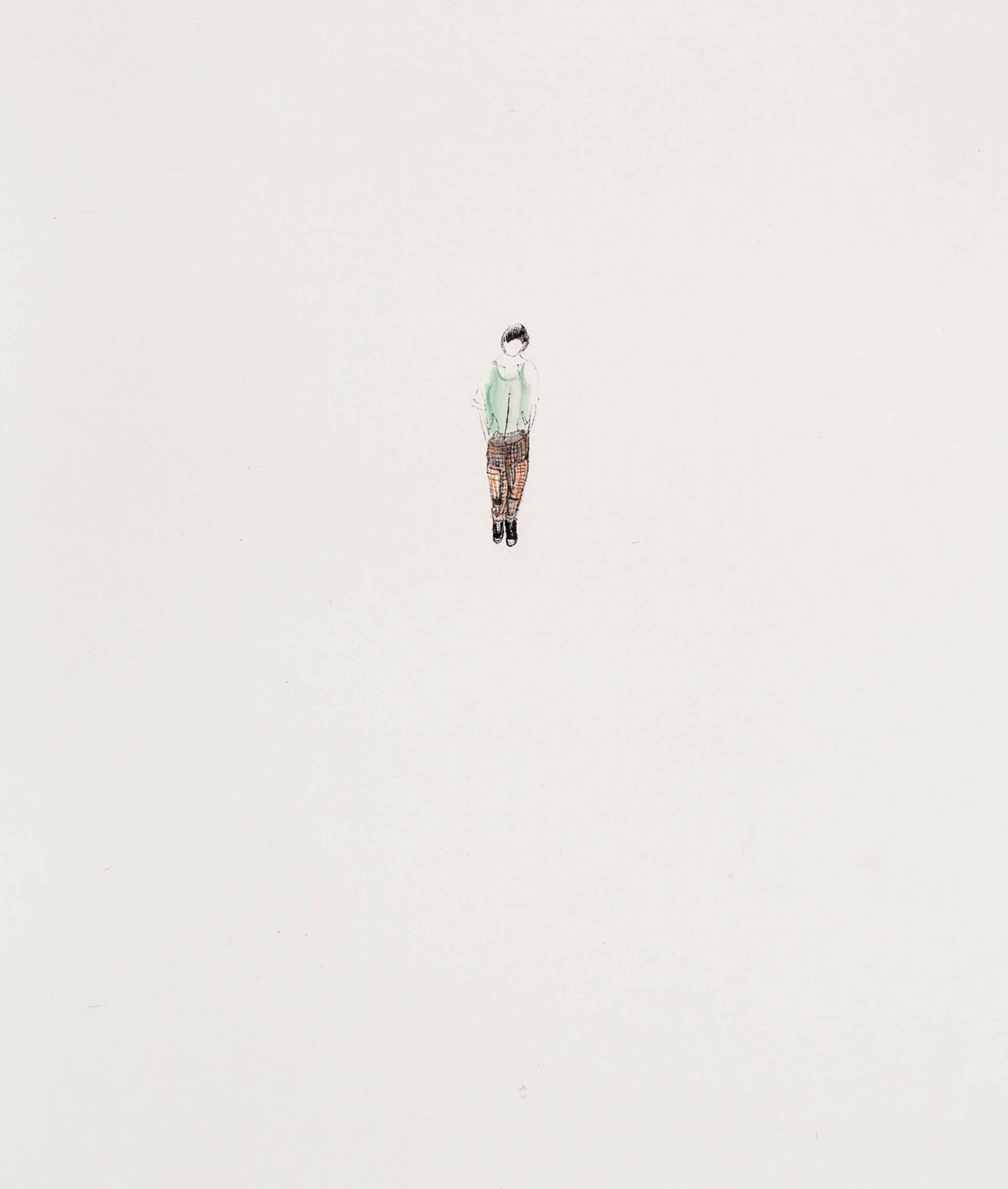 Gao Ping, Girl, 2011, ink on paper, 45 x 36 cm