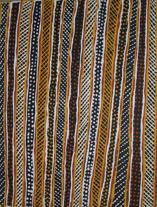 Jean-Baptiste Apuatimi, Jilamara, 2008,earth ochres on paper, 57 x 77 cm