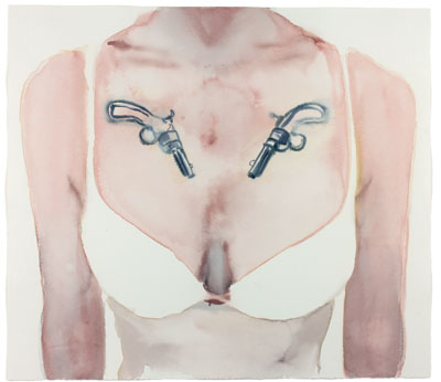 Fiona McGonagle, Shooters, 2011, watercolour and pencil on paper, 50 x 57 cm (paper size), Purchased by Maitland Regional Art Gallery, 2011