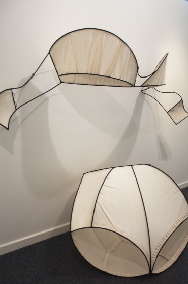 Maggie Hensel-Brown, Bloomers and Brassiere, Steel and Calico, 240 x 250 x 70 cm