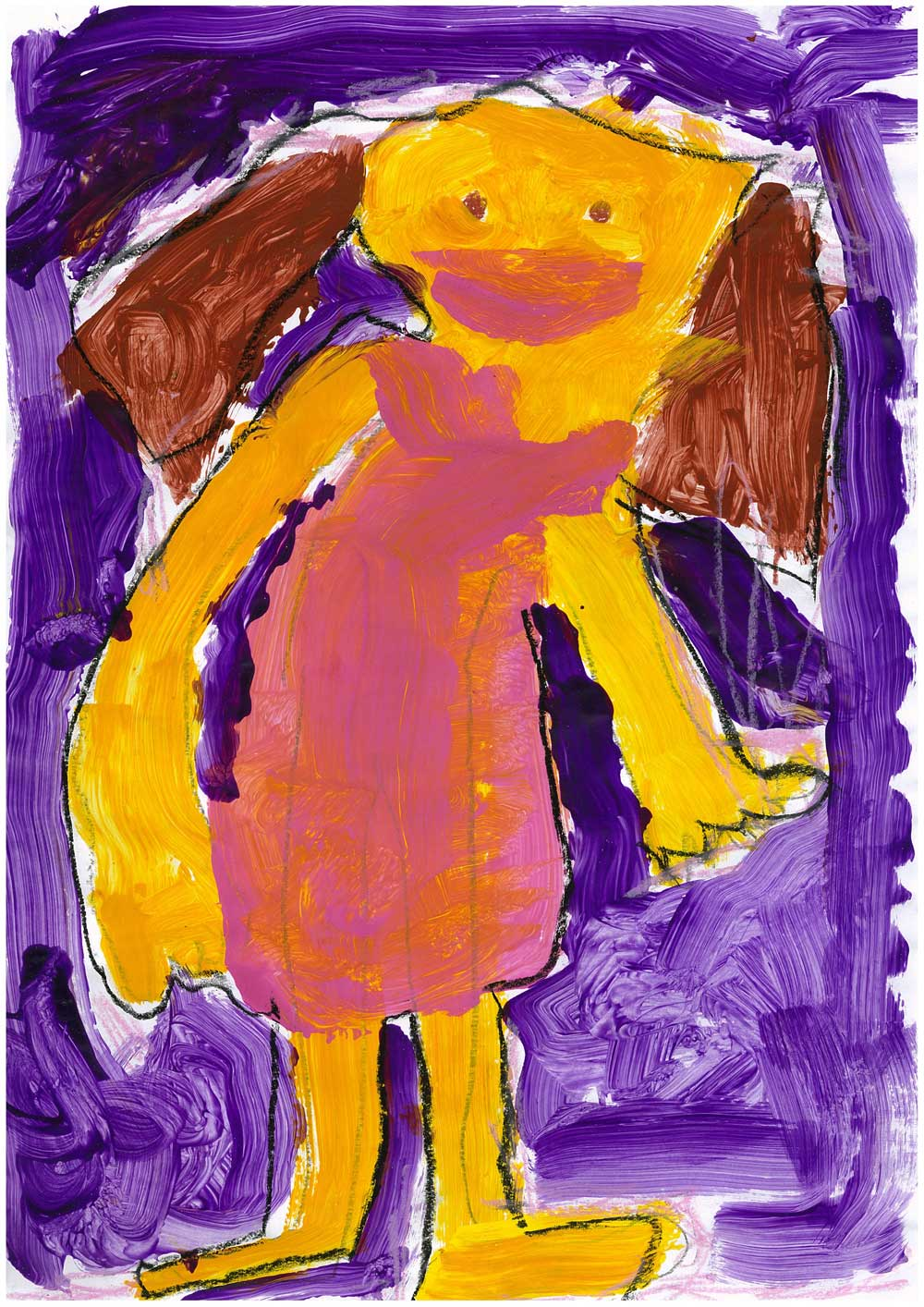 Estella Marrett (age 6), Untitled, 2012, acrylic on paper, 42 x 29.7 cm