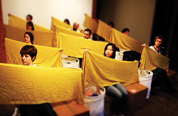 Surabhi Saraf, Fold, (live public performance in San Francisco) 2011, video 13:46 minutes images courtesy of the artist