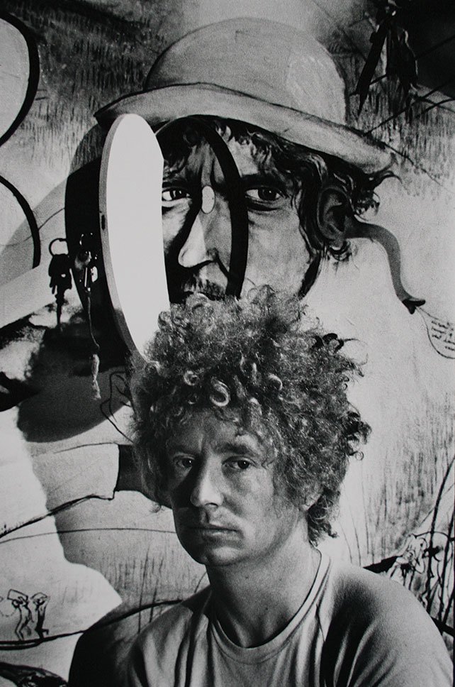 Greg Weight, Brett Whiteley, 2004, selenium toned silver gelatin photograph, 90 x 47cm