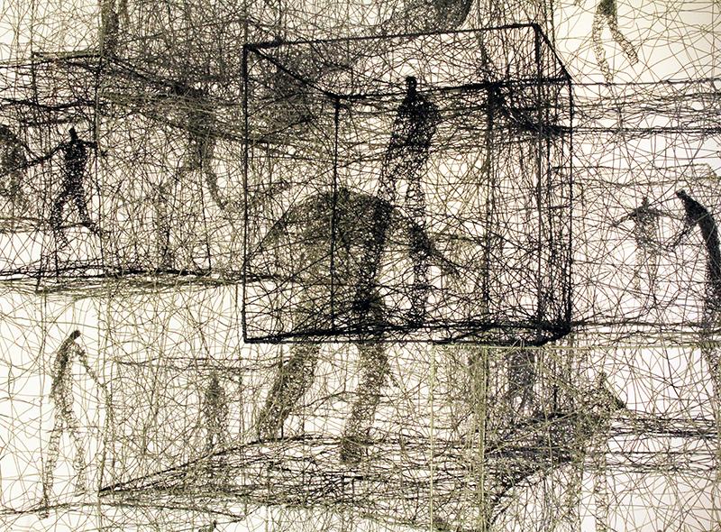 Barbara Licha, Chaos and Order, 164 x 133 x 133 cm
