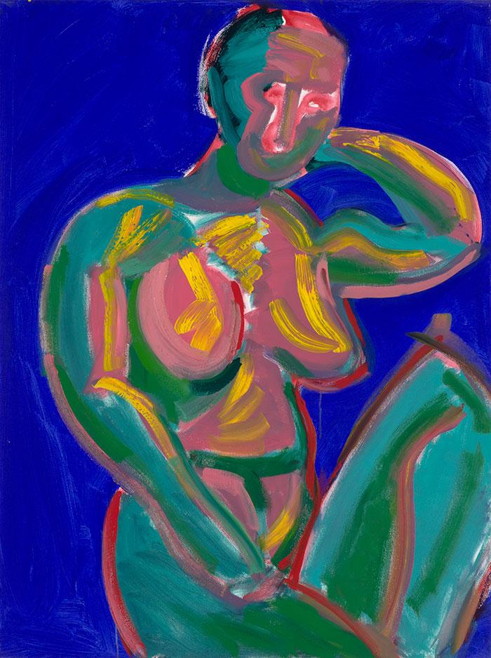 Dick Watkins, Untitled, 1996 - 1998, acrylic on canvas, 121 x 91.5 cm