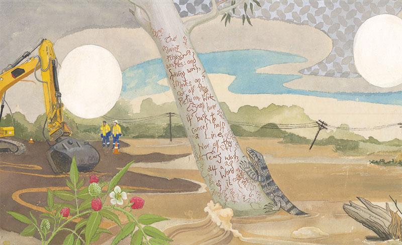 Tallulah Cunningham, Hunter Valley Rubaiyat of Omar Khayyam (detail), 2012-2013, watercolour and gouache on paper 30.5 x 405 cm