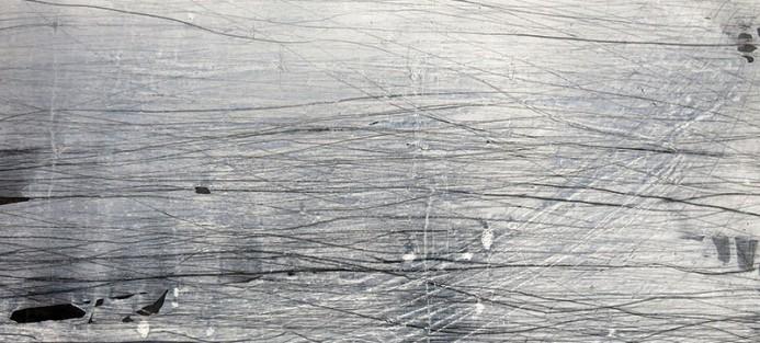 Kiera O'Toole, Line as Recall 1, 2013, acrylic and graphite on masonite 91 x 61 cm