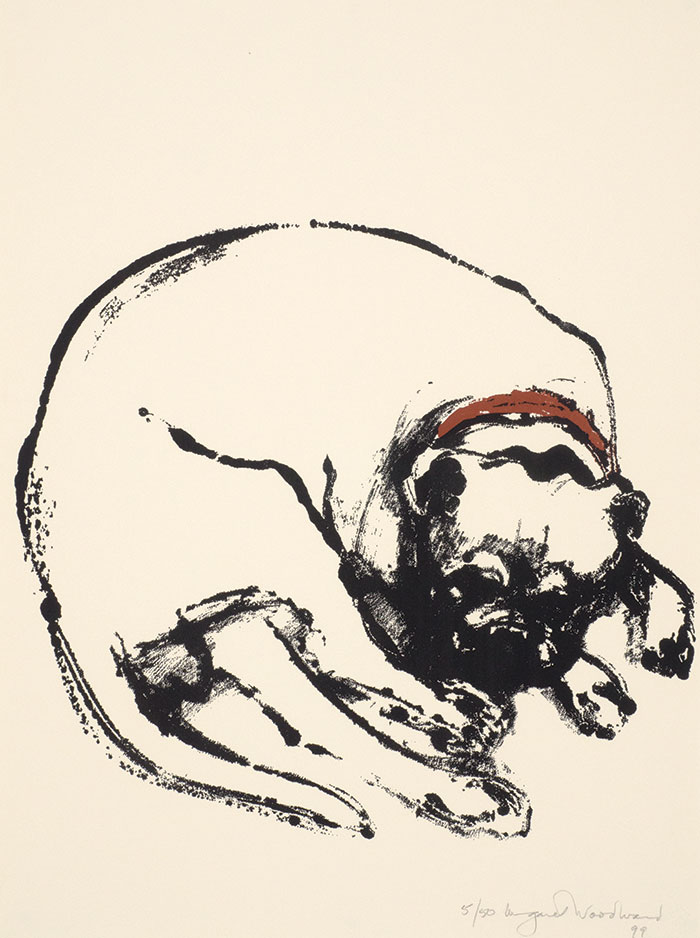 Margaret Woodward, Untitled, 1999, lithograph on paper, 76 x 56 cm donated through the AustralianGovernment's Cultural Gifts Program by Michael Hobbs, 2012