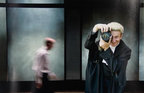 Mark Tedeschi, Framed (self portrait), 2007, Archival inkjet print, 37 x 55.5cm, 68 x 89cm (frame size)