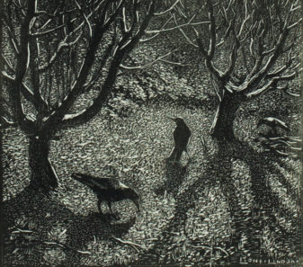 Lionel Lindsay, Frosty Morn, 1924, Wood engraving, 8.6 x 9.7cm, Donated under the Australian Government's Cultural Gifts program by Max and Nola Tegel in 2016.