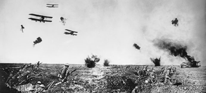 Frank Hurley, Over the top/A hop over, c 1918, Photographic Digital Print, 20x25cm. Image courtesy of Australian War Memorial