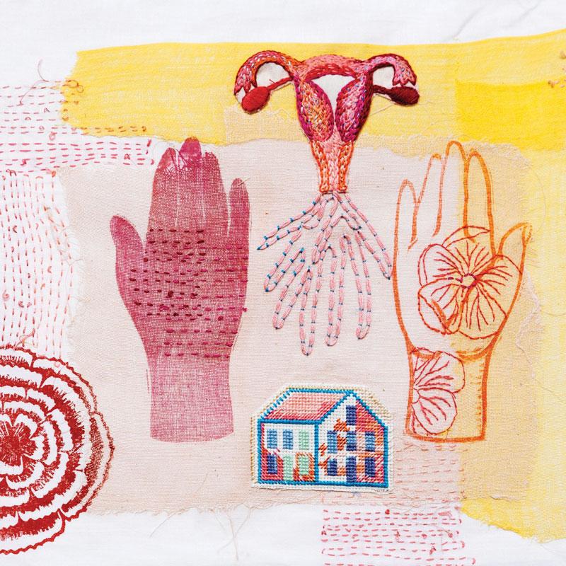 Ema Shin and Tamworth Textile Artists, Devoted Body 2017, Linen, silk, muslin, water-based ink, acrylic ink, cotton thread, woodblock print, block print, urauchi (Chinecollé),