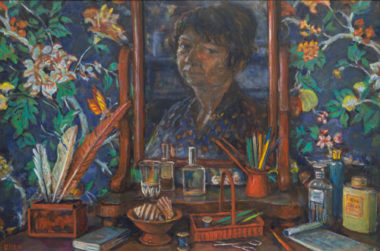 Margaret Olley, Bedroom still life, 1997, Oil on board 61 x 91cm, Purchased by Maitland Regional Art Gallery with the assistance of the Art Gallery Society, 1998, Maitland Regional Art Gallery Collection